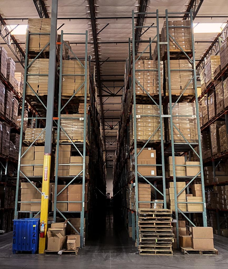 steve madden section of the warehouse